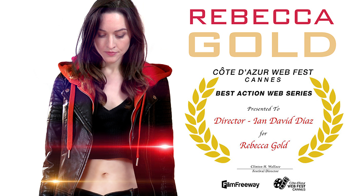 Rebecca%20Gold%20Official%20Selection%22%20Cote%20d'Azur%20WebFest%20winner%202019%20poster